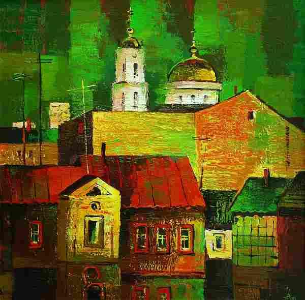 Oil painting Old city Egor Ktpatunov