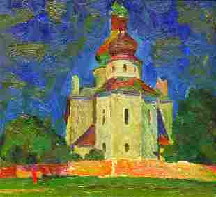 Oil painting The cathedral Egor Ktpatunov