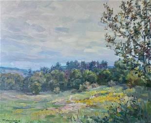 Oil painting To the rain Kovalenko Ivan Mikhailovich
