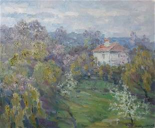Oil painting House in the forest Kovalenko Ivan