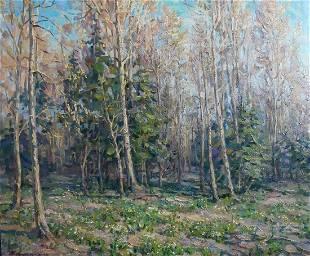 Oil painting Forest landscape Kovalenko Ivan