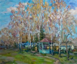 Oil painting Country house Kovalenko Ivan Mikhailovich