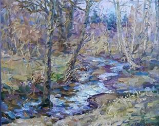 Oil painting Brook Kovalenko Ivan Mikhailovich