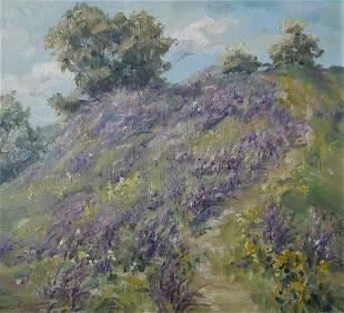 Oil painting Blooming field Kovalenko Ivan Mikhailovich
