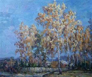 Oil painting Is partying Kovalenko Ivan Mikhailovich