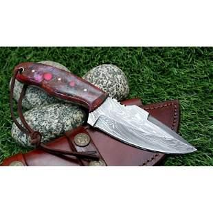 Hunting skinner everyday carry damascus steel knife