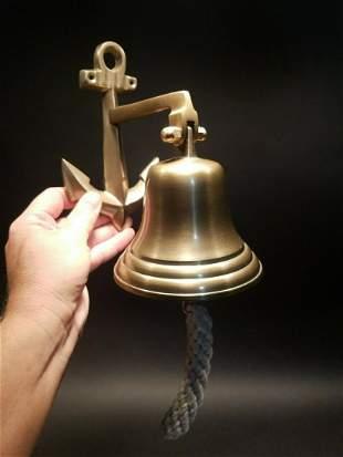 Cast Brass Anchor Wall Mount Bell
