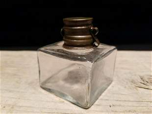 Square Glass Inkwell Ink pot Bottle