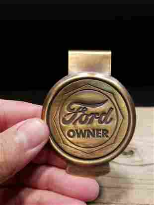 Brass Ford Owner Money Clip