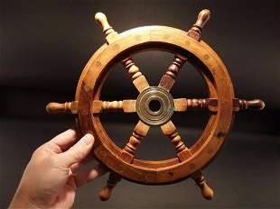 Wood Nautical Ships Helm Steering Wheel