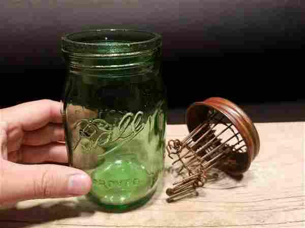 Green Ball Jar Glass Mouse Trap