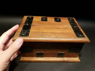 Wood Document Box w Inner Compartment