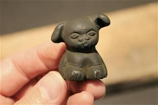 "Miniature Cast Iron ""Griswold Pup"" Dog"
