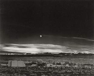 ANSEL ADAMS - Moonrise, Hernandez, New Mexico, 1941
