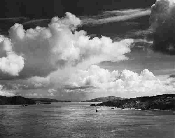 ANSEL ADAMS - Golden Gate Before the Bridge, 1932