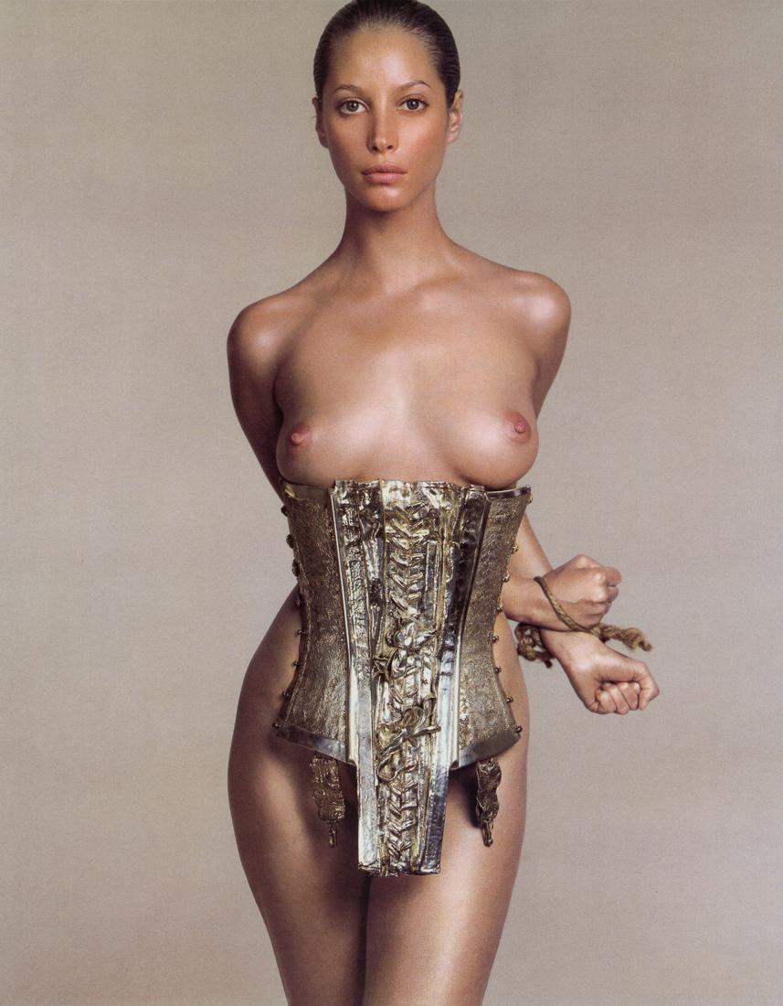 RICHARD AVEDON - Christy Turlington as Autumn, 1995