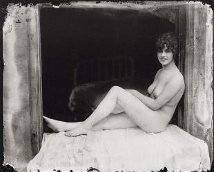 E.J. BELLOCQ - Seated Storyville Prostitute, 1912