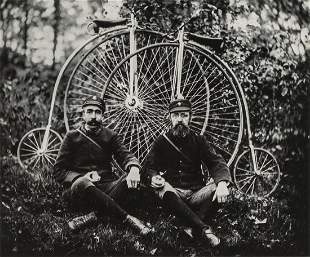 CHARLES H. CURRIER - The Bicycle Messengers Seated