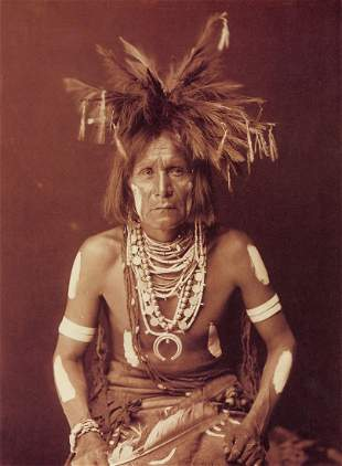 EDWARD CURTIS - A Snake Priest - Hopi, 1900