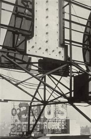 WALKER EVANS - Manhanttan U.S. Rubber Sign, 1928