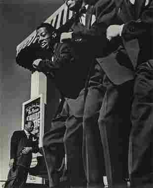 JOHN GUTMANN - Portrait of Count Basie, SF, 1939