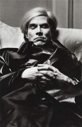 HELMUT NEWTON - Andy Warhol, Vogue Uomo, Paris, 1974