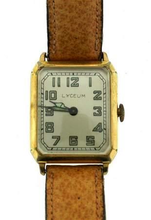 VINTAGE C.1950 LYCEUM WATCH BEIGE STRAP