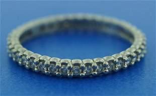 MORELLI BEAUTIFUL PLATINUM 950 DIAMOND WEDDING BAND