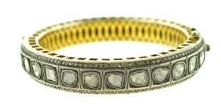 GORGEOUS Silver, Gold & Rose Cut Diamond Modern Indian