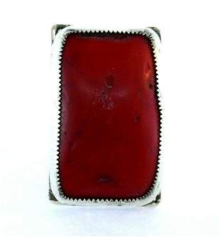 Native American Sterling Silver Branch Coral Ring