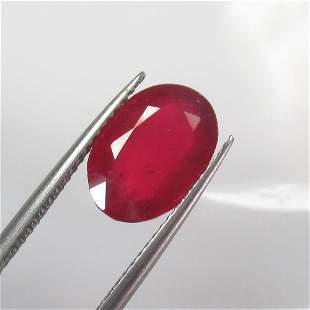 5.60 Ctw Natural Red Ruby Oval Cut