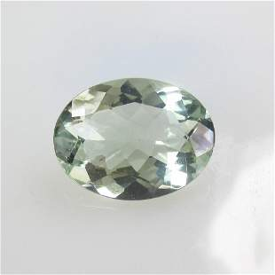 5.29 Ct Natural Green Amethyst Oval Cut