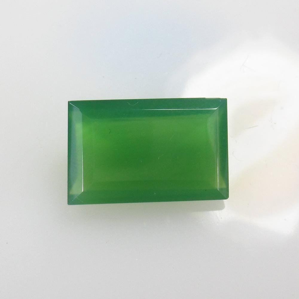 10.18 Ct Natural Green Onyx Rectangle Cut