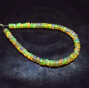 10.40 Ct Natural 72 Drilled Fire Opal Round Beads