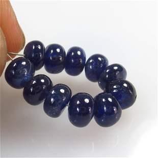 13.45 Ct Natural 12 Blue Sapphire Round Beads