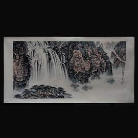 Chinese Hand-painted Scroll Painting (Mirror