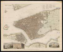 Scarce SDUK map of New York City, 1840