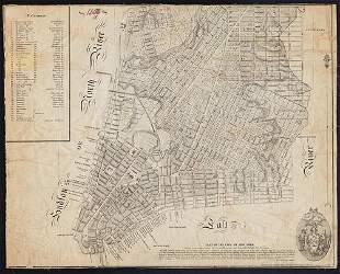 Goerck/Mangin Plan of N. Y. City, Scarce 1856 Hayward
