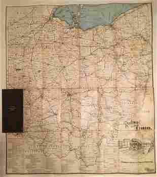 1914 pocket Railroad Map of Ohio