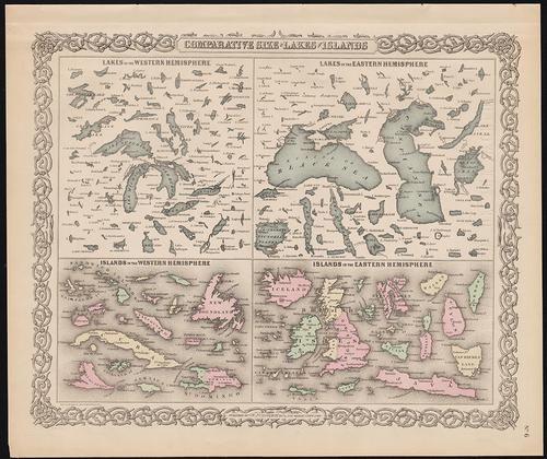 Fascinating Lakes & Islands comparison, 1886