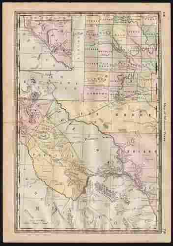 Texas in 4 maps, Hardesty 1885