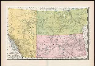 1891 map of Northwest Territories, Rand McNally