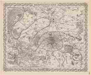 Amazingly detailed map of Paris, 1890