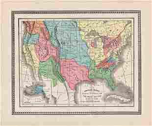 Native Americans distribution in U. S., c1883