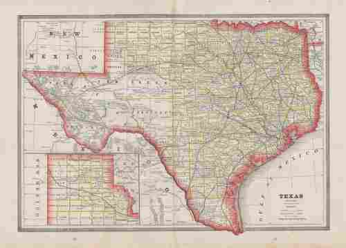 Scarce variant of Texas, George F. Cram 1883