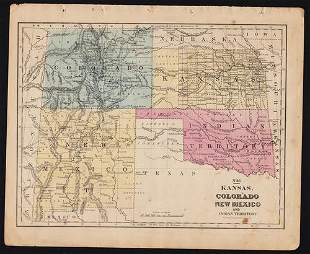 1852 map of the West, incl. Indian & N. Mex.