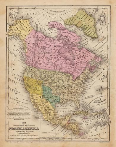 Early U.S. map shows Texas, Upper Calif. – 1839