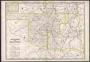 Scarce railroad map of Oklahoma/Indian Territory, 1897