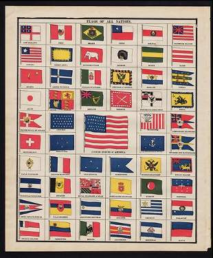 Flags of All Nations, George F. Cram 1888