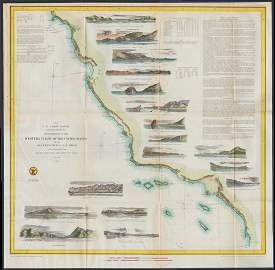 W. Coast of U. S. - Frisco to San Diego. 1852